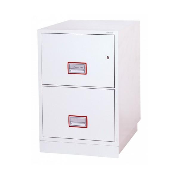 classeur fire file excel ignifuge phoenix fs2242k 2 tiroirs ignifuge 1h30 pour papiers et donnees numeriques