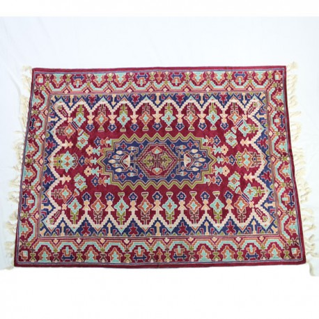 tapis indien cachemire soie bordee boutique indienne