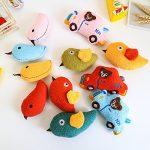 Ari_Mao Oiseau Forme Jouet Pet MolarTeeth Nettoyage Jouet Chien Squeaky Sound Jouets (Orange)