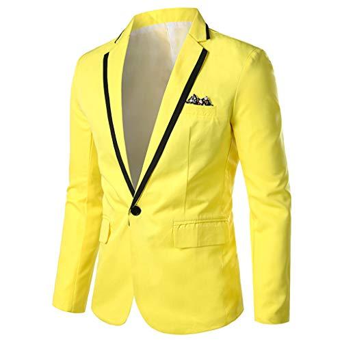 Blazer Men's Élégant Casual Blazer Solide Business Wedding Party Outwear Manteau Costume Faux Veste Tops