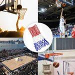 HOGAR AMO 2 PCS Professional Filet de Basket Ball en Nylon Durable Multicolore pour Match Formation Divertissement