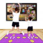 HUAJIA sans Fil Tapis de Danse Dance Mat Double, PU Matériel 3D HD Jeu Console Enfant Adulte Poids de la Machine de Perte, Silicone Massage Anti-dérapant, Family Game TIAOWUTAN