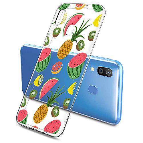 Oihxse Clair Case pour Samsung Galaxy A20/A30 Coque Ultra Mince Transparent Souple TPU Gel Silicone Protecteur Housse Mignon Motif Dessin Anti-Choc Étui Bumper Cover (A4)