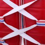 P Prettyia Veste de Protection Équipement Garde Poitrine pour Sport de Combat Taekwondo – Bleu Rouge, L