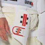 Protège-Cuisse de Cricket Tout-en-Un de Grey-Nicolls, Blanc, Droite