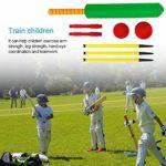 sycamorie Cricket pour Enfants, Cricket en Bois pour Enfants Ensembles De Cricket D'arrière-Cour Ensemble De Cricket en Mousse NBR Sports Kid Toy pour Jeu De Jardin Intérieur Extérieur