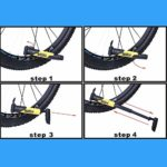 YHWLKK Gonfleur Rapide et Facile – Pompe à vélo Pneu for vélo de Route et de Montagne – Manches isolé -Inflator Stockage Canister Safe Blanc