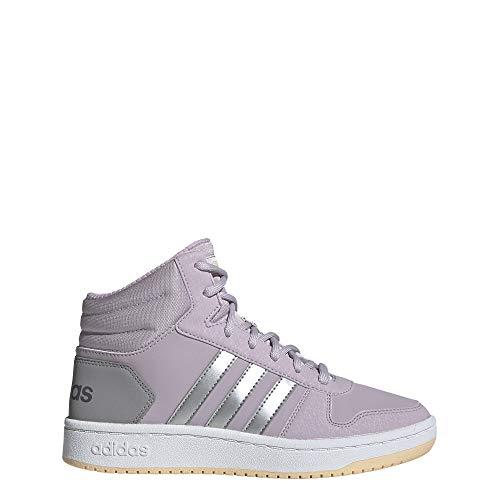 adidas Hoops Mid 2.0 K, Chaussures de Basketball Mixte Enfant, Multicolore (Malva/Plamat/Grasua 000), 37 1/3 EU