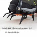 NON-SLIP Crampons,Crampon Antidérapent,Crampons Universelles,10 Dents, Acier Glace Grips, Anti-dérapant Neige Et Glace Traction Crampons Chaussure,Orange