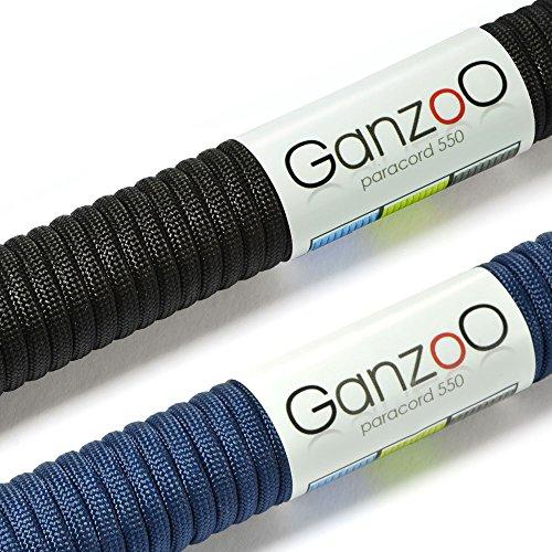 Paracorde 550 corde, pour bracelet ou collier de chien, 62 mètres, noir bleu foncé