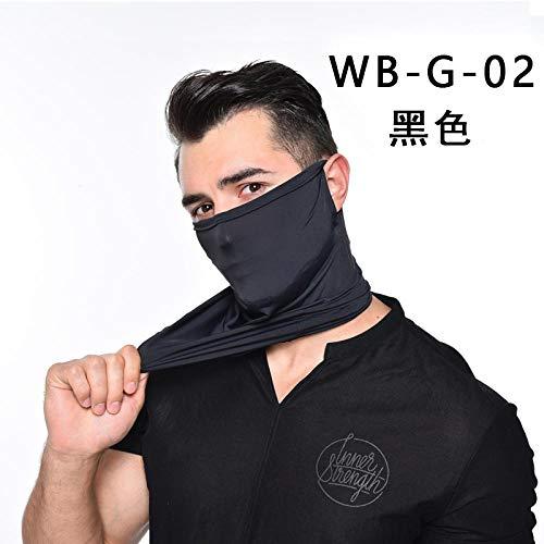 SHAOLIN Ice Silk Sun Protection Head Sleeve Ear Neck Outdoor Riding Triangle Towel Respirable Sunscreen Face Neck Riding Mask Ice