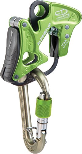 Climbing Technology Alpine-Up Mousqueton Assureur descendeur multifonction, vert
