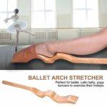 Pied de Ballet civière en Bois Arc civière Pied Archer Ballet Accessoire + Bande élastique + Sac de Transport