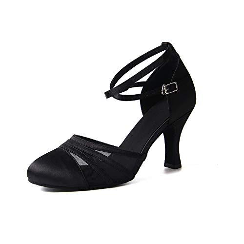 Syrads Chaussures de Danse Latine pour Femmes Chaussures de Danse Tango Valse Samba Fête Sociale Salsa Sandale