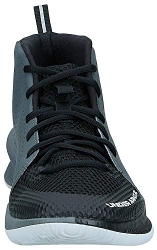 Under Armour UA Jet, Chaussures de Basketball Homme, Noir (Black/Pitch Gray/Halo Gray (001) 001), 47 EU