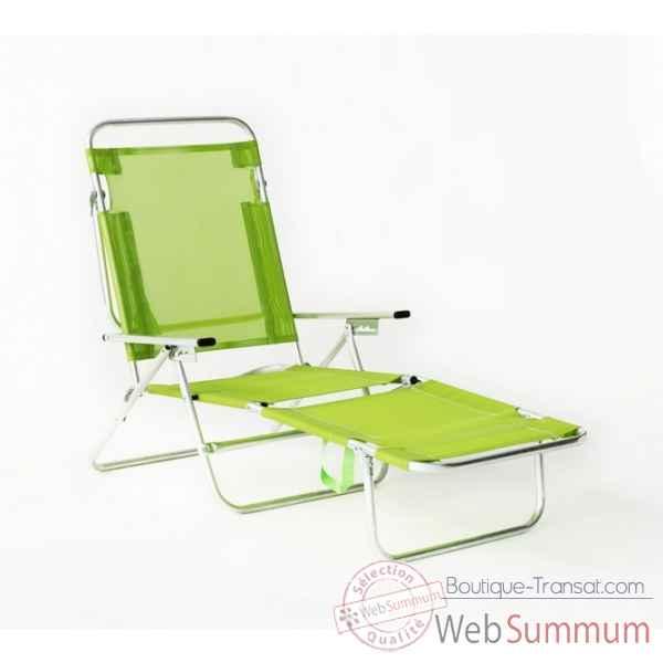 segura 175 chaise longue de plage pliable multipositions longueur transat