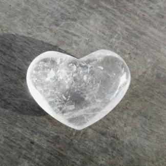 Coeur en cristal de roche