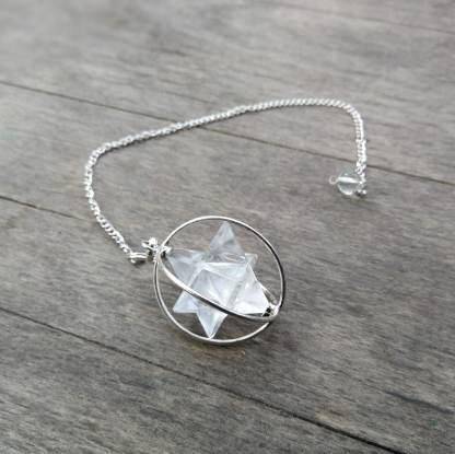 Pendule Merkabah cristal de roche