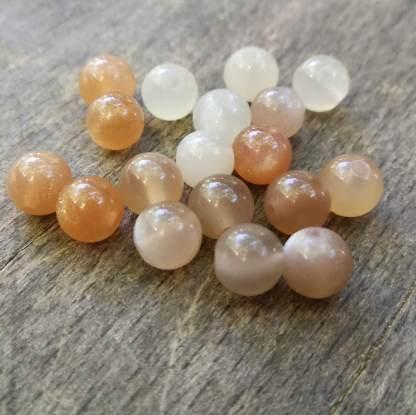 Perles pierre de lune 6mm