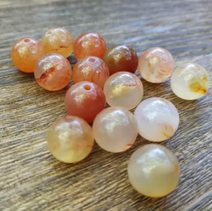 Perles cornaline naturelle 8mm