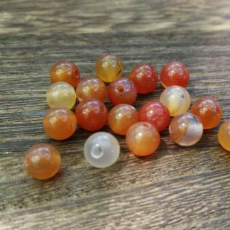 Perles cornaline naturelle 6mm