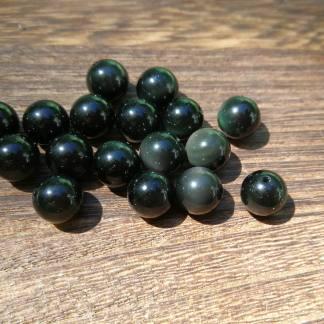 perles obsidienne oeil celeste 6mm
