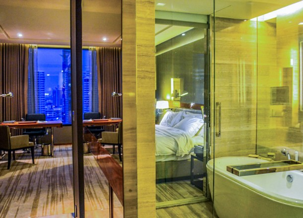 Bedroom Suites, Hilton Hotel in Em District of Bangkok Skytrain