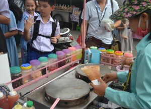 Sweet Crepes, International street food in Bangkok Thailand