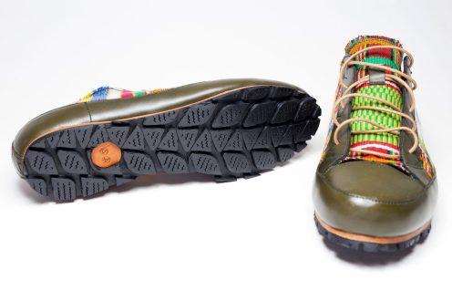 Basket conçu main en Kenté _ Handmade Sneakers in Kente by Mablé Agbodan IMG_6661