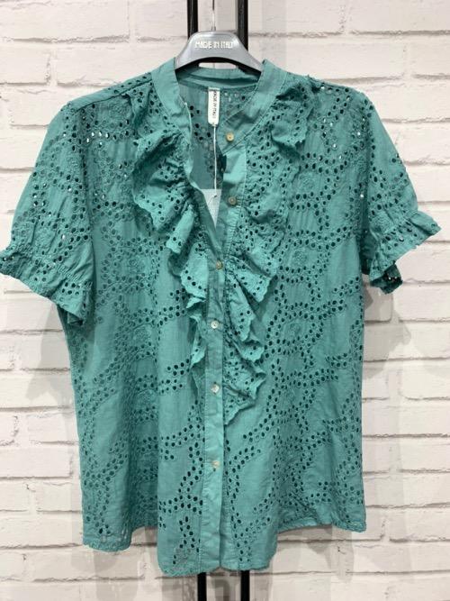 חולצה תחרה ירוק