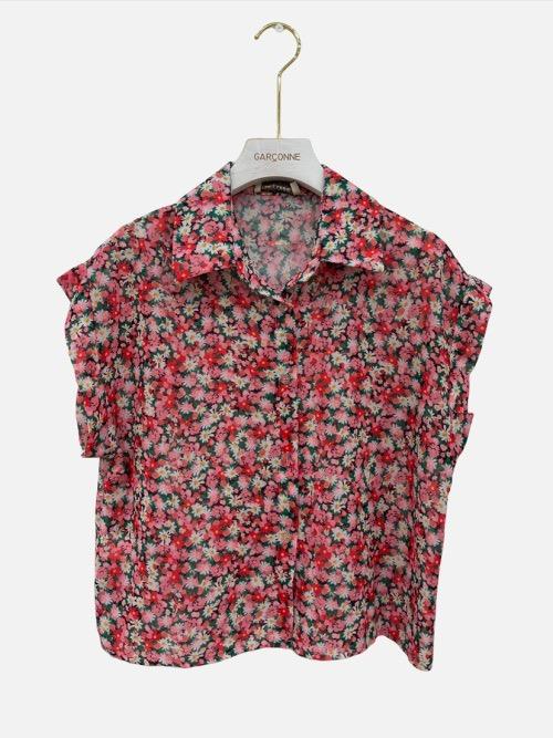 חולצה שרוול קצר ורודה