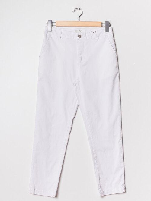 מכנסיים חלקים מלניה לבן