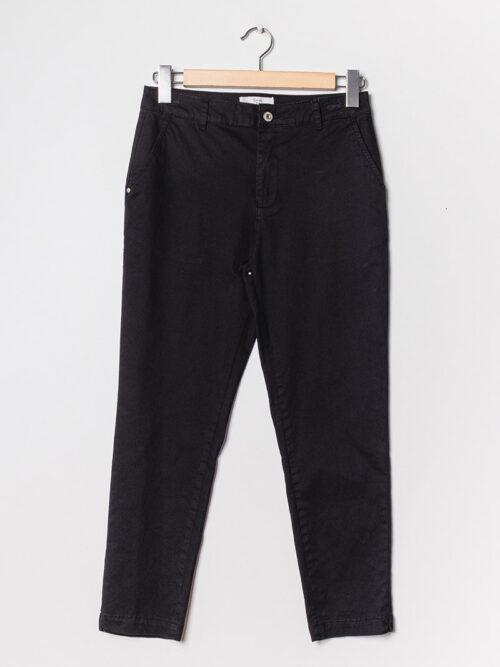 מכנסיים חלקים מלניה שחור