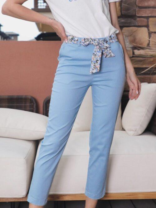 מכנסיים חלקים מלניה כחול