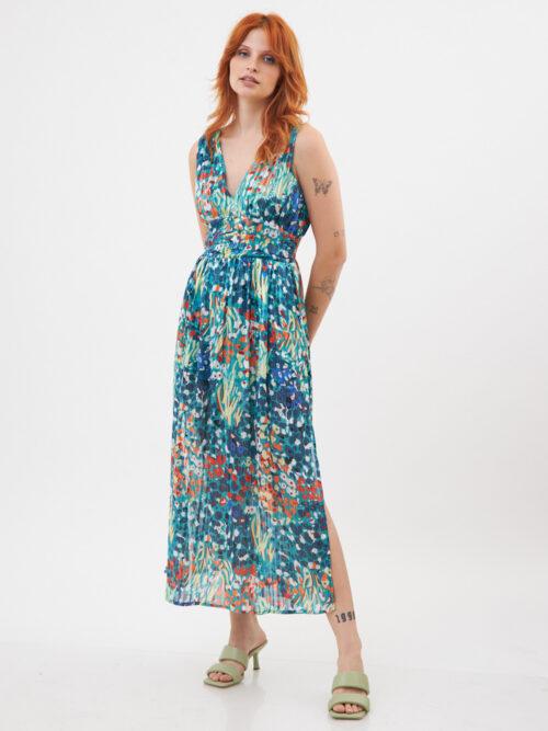 שמלה מקסי בטי ירוקה
