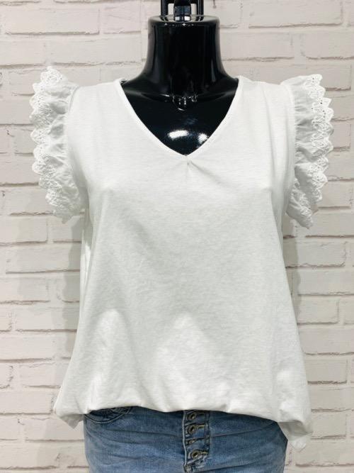 חולצה תחרה דינה לבנה