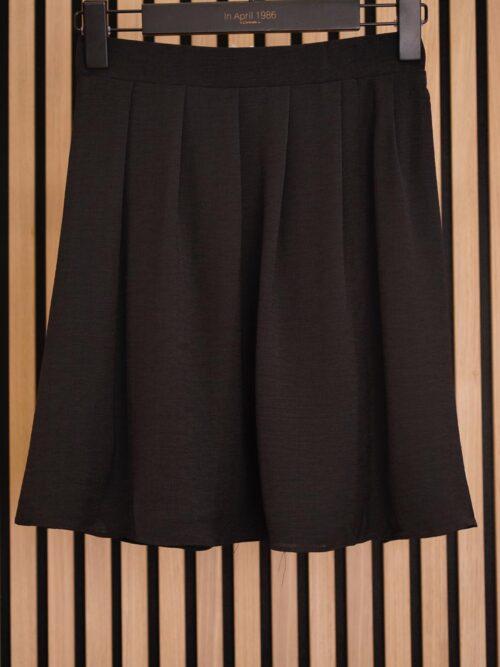 חצאית מיני פליסה שחורה