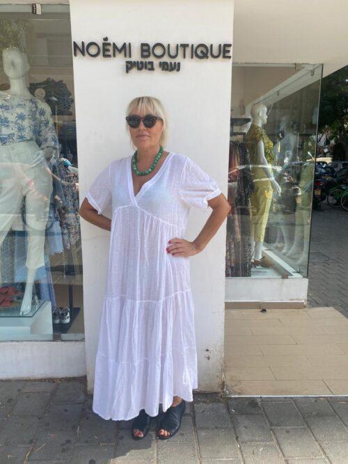 שמלה פשטן לבנה