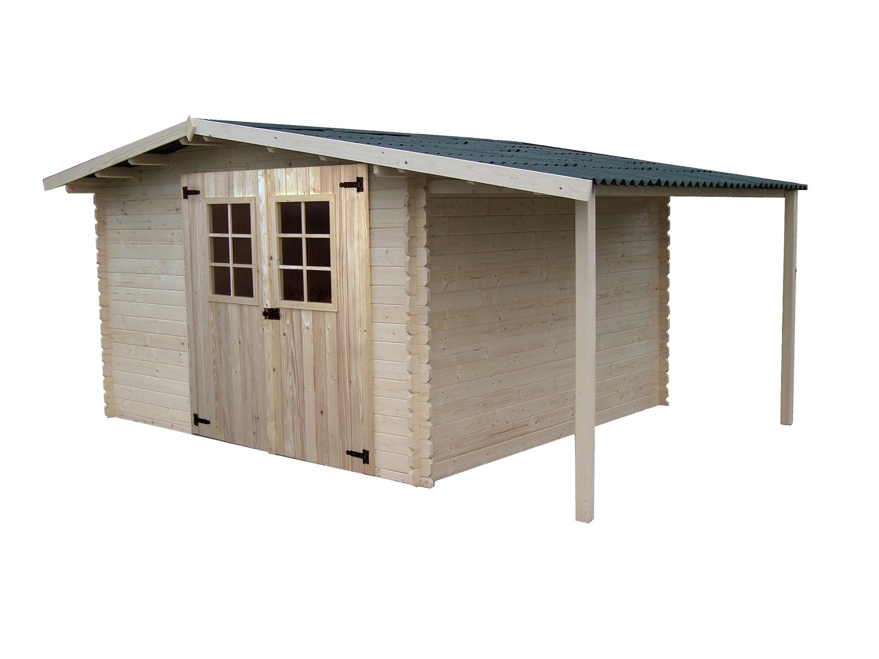 abri de jardin bois vendee avec bucher 4 40x3 04m