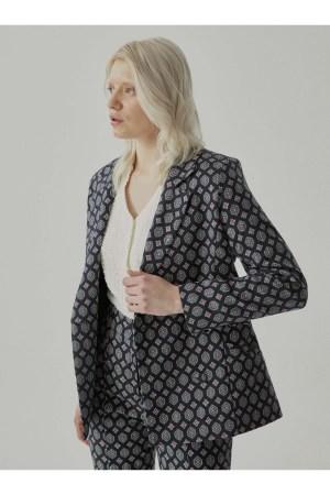 Veste de tailleur Sinequanone double boutonnage imprimée