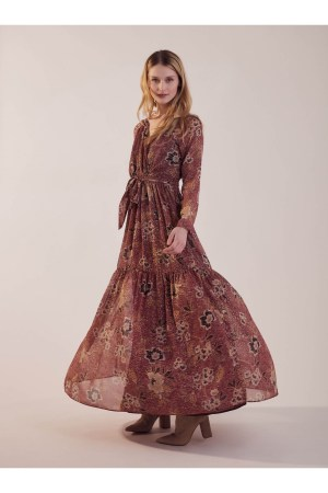 Robe longue imprimée Sinequanone
