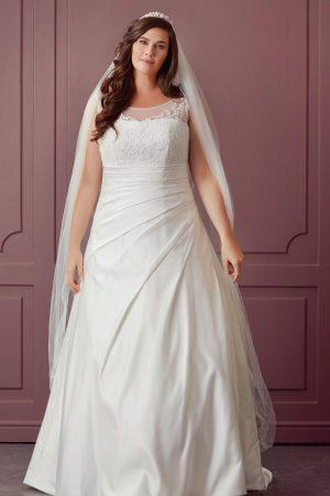 robe de mariée satin drapé collection lilly style romantique