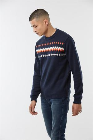 pull orange et marine lee cooper modèle clost lee cooper tricot