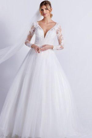 robe de mariée en tulle et dentelle modele 4227 collection lilly - style romantique