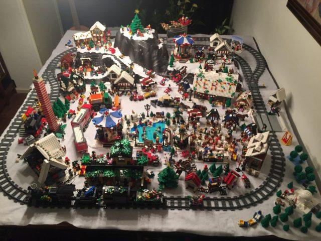LEGO Kerstdorp van Bas en Nina