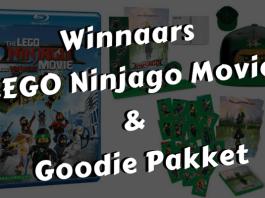 Winnaars LEGO Ninjago Movie met goodie pakket