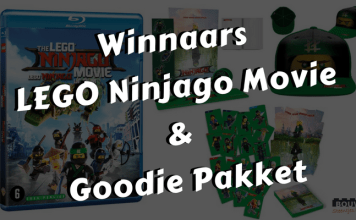 Winnaars LEGO Ninjago Movie met goodie pakket