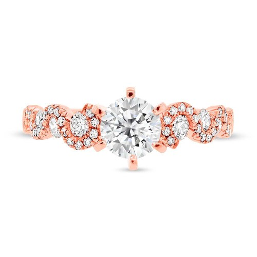 SC28023024b 2 - 0.54CT 14K ROSE GOLD DIAMOND SEMI MOUNT RING