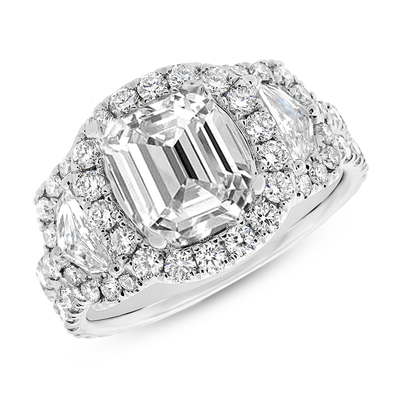 SC28023591 - 2.30CT 18K WHITE GOLD DIAMOND SEMI-MOUNT RING FOR 9X9MM CENTER