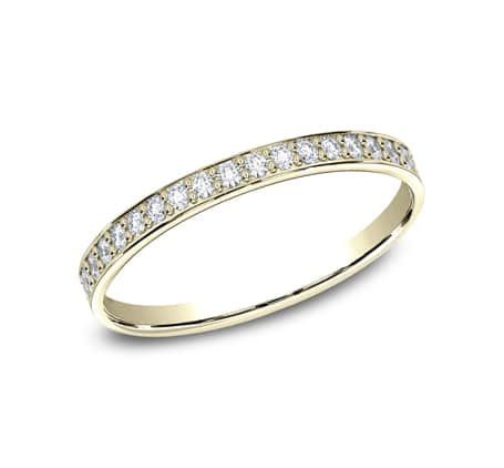 522800Y P1 - YELLOW GOLD 2MM  PAVE SET DIAMOND BAND 522800Y